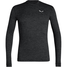 SALEWA Puez Melange Dry Longsleeve T-shirt Heren, black out melange